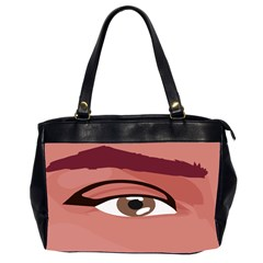 Eye Difficulty Red Office Handbags (2 Sides)  by Mariart