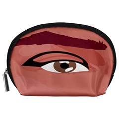 Eye Difficulty Red Accessory Pouches (large)  by Mariart