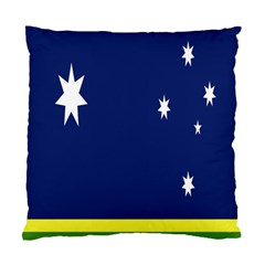 Flag Star Blue Green Yellow Standard Cushion Case (two Sides) by Mariart