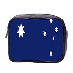 Flag Star Blue Green Yellow Mini Toiletries Bag 2 Side by Mariart