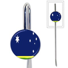 Flag Star Blue Green Yellow Book Mark by Mariart