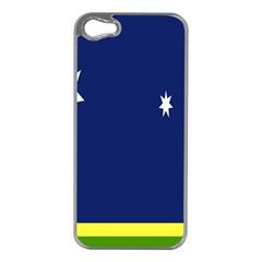Flag Star Blue Green Yellow Apple Iphone 5 Case (silver) by Mariart