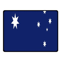 Flag Star Blue Green Yellow Double Sided Fleece Blanket (small)  by Mariart
