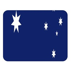 Flag Star Blue Green Yellow Double Sided Flano Blanket (large)  by Mariart