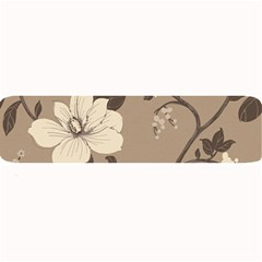 Floral Flower Rose Leaf Grey Large Bar Mats by Mariart