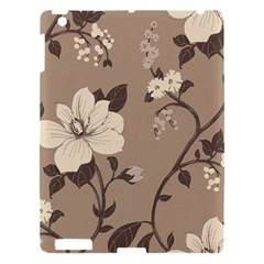 Floral Flower Rose Leaf Grey Apple Ipad 3/4 Hardshell Case by Mariart