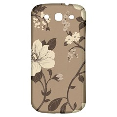 Floral Flower Rose Leaf Grey Samsung Galaxy S3 S Iii Classic Hardshell Back Case by Mariart