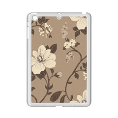 Floral Flower Rose Leaf Grey Ipad Mini 2 Enamel Coated Cases by Mariart