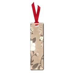 Floral Flower Rose Leaf Grey Small Book Marks by Mariart