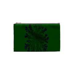 Dendron Diffusion Aggregation Flower Floral Leaf Green Purple Cosmetic Bag (small)  by Mariart