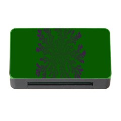 Dendron Diffusion Aggregation Flower Floral Leaf Green Purple Memory Card Reader With Cf by Mariart