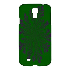 Dendron Diffusion Aggregation Flower Floral Leaf Green Purple Samsung Galaxy S4 I9500/i9505 Hardshell Case by Mariart
