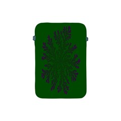 Dendron Diffusion Aggregation Flower Floral Leaf Green Purple Apple Ipad Mini Protective Soft Cases by Mariart
