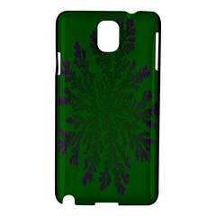 Dendron Diffusion Aggregation Flower Floral Leaf Green Purple Samsung Galaxy Note 3 N9005 Hardshell Case by Mariart