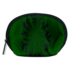 Dendron Diffusion Aggregation Flower Floral Leaf Green Purple Accessory Pouches (medium)  by Mariart