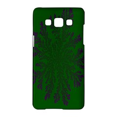 Dendron Diffusion Aggregation Flower Floral Leaf Green Purple Samsung Galaxy A5 Hardshell Case  by Mariart
