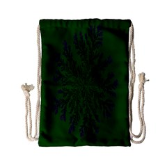 Dendron Diffusion Aggregation Flower Floral Leaf Green Purple Drawstring Bag (small) by Mariart