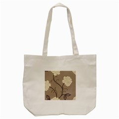 Flower Floral Black Grey Rose Tote Bag (cream) by Mariart
