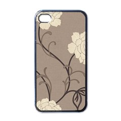 Flower Floral Black Grey Rose Apple Iphone 4 Case (black) by Mariart