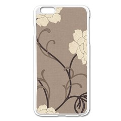 Flower Floral Black Grey Rose Apple Iphone 6 Plus/6s Plus Enamel White Case by Mariart