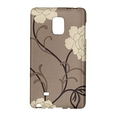 Flower Floral Black Grey Rose Galaxy Note Edge by Mariart