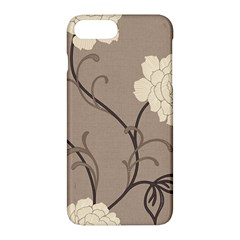 Flower Floral Black Grey Rose Apple Iphone 7 Plus Hardshell Case by Mariart