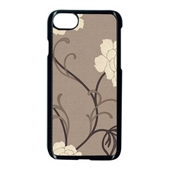 Flower Floral Black Grey Rose Apple Iphone 7 Seamless Case (black) by Mariart