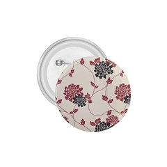 Flower Floral Black Pink 1 75  Buttons by Mariart