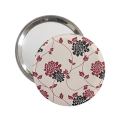 Flower Floral Black Pink 2 25  Handbag Mirrors by Mariart