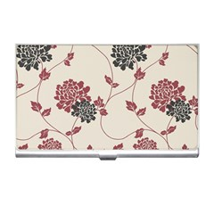 Flower Floral Black Pink Business Card Holders by Mariart