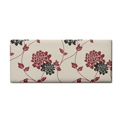 Flower Floral Black Pink Cosmetic Storage Cases