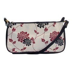 Flower Floral Black Pink Shoulder Clutch Bags by Mariart