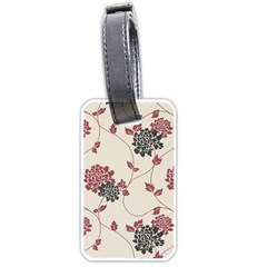 Flower Floral Black Pink Luggage Tags (two Sides) by Mariart