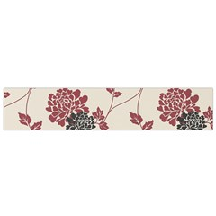 Flower Floral Black Pink Flano Scarf (small) by Mariart