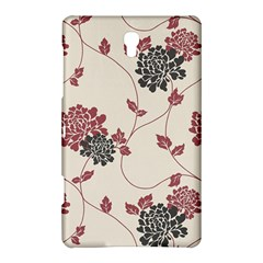 Flower Floral Black Pink Samsung Galaxy Tab S (8 4 ) Hardshell Case  by Mariart