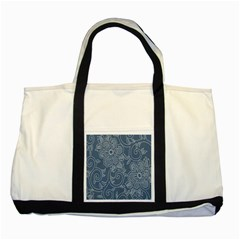 Flower Floral Blue Rose Star Two Tone Tote Bag by Mariart