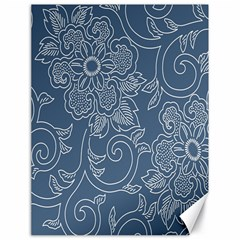 Flower Floral Blue Rose Star Canvas 18  X 24   by Mariart