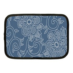 Flower Floral Blue Rose Star Netbook Case (medium)