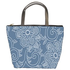 Flower Floral Blue Rose Star Bucket Bags by Mariart