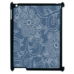 Flower Floral Blue Rose Star Apple Ipad 2 Case (black) by Mariart