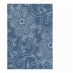 Flower Floral Blue Rose Star Small Garden Flag (two Sides) by Mariart