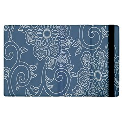 Flower Floral Blue Rose Star Apple Ipad 3/4 Flip Case