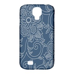 Flower Floral Blue Rose Star Samsung Galaxy S4 Classic Hardshell Case (pc+silicone) by Mariart