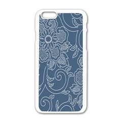 Flower Floral Blue Rose Star Apple Iphone 6/6s White Enamel Case by Mariart