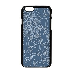 Flower Floral Blue Rose Star Apple Iphone 6/6s Black Enamel Case by Mariart