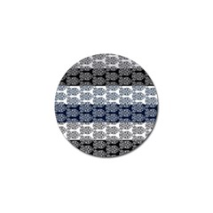 Digital Print Scrapbook Flower Leaf Colorgray Black Purple Blue Golf Ball Marker (4 Pack) by Mariart