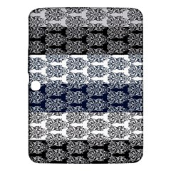 Digital Print Scrapbook Flower Leaf Colorgray Black Purple Blue Samsung Galaxy Tab 3 (10 1 ) P5200 Hardshell Case