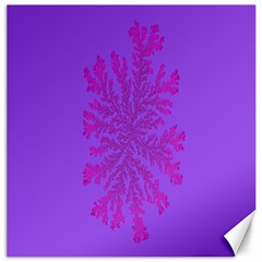 Dendron Diffusion Aggregation Flower Floral Leaf Red Purple Canvas 12  X 12
