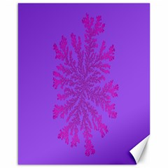 Dendron Diffusion Aggregation Flower Floral Leaf Red Purple Canvas 16  X 20   by Mariart