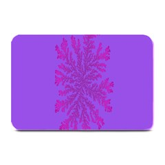 Dendron Diffusion Aggregation Flower Floral Leaf Red Purple Plate Mats by Mariart